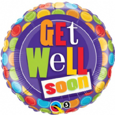 Get Well Soon! Dots Foil Helium Balloon